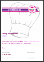 Certificaat Kook Workshop