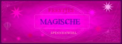 Banner Feestjes Magische Spinnenwiel