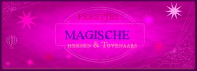Banner Magische Feestjes Heksen-Tovenaars